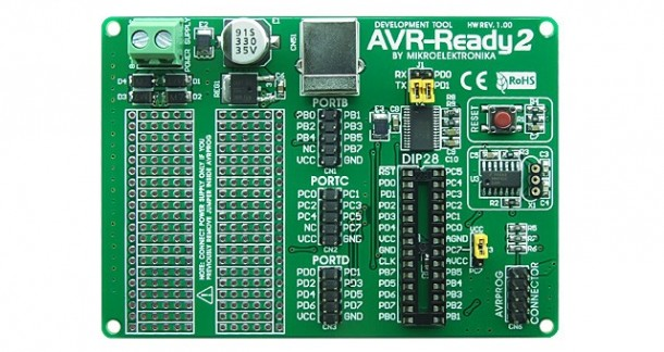 AVR-Ready2 Board by  Mikroelektronika