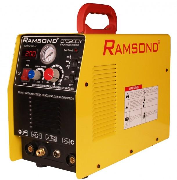 Ramsond CT 520DY 3-in-1 Multifunction Digital Inverter Plasma Cutter + TIG Welder