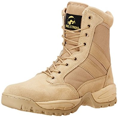Maelstrom Men's Tac Force 8 Inch Zipper Tactical Work Shoes For Engineers