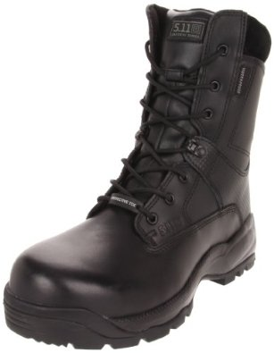 """5.11 Men's A.T.A.C. SHIELD 8"""" Side Zip Certified Safety Toe Work Shoes For Engineers"""