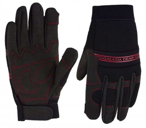 Synthetic Leather Work Gloves by Galatia Gear
