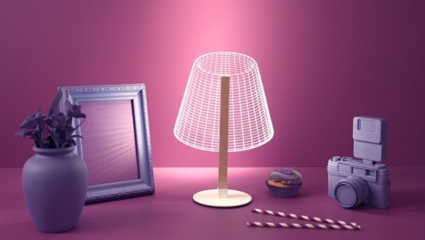 Bulbing Lamps Create 3D Optical Illusions 4