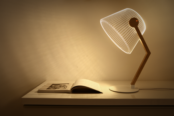 Bulbing Lamps Create 3D Optical Illusions 6