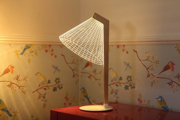 Bulbing Lamps Create 3D Optical Illusions 7