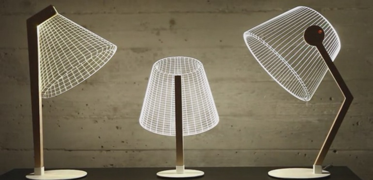 Bulbing Lamps Create 3D Optical Illusions