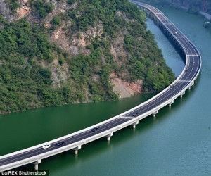 China Highway over water