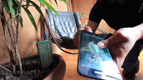 E-Kaia Makes Use of Energy From Plant For Charging Smartphones 3