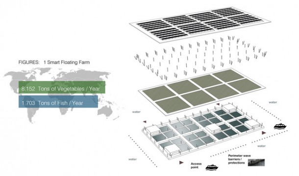 Floating Solar Farm Is Capable of Producing 8 Tons Of Vegetables Per Year 3