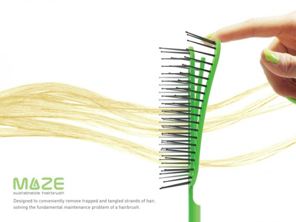 Maze Hairbrush Makes Cleaning A Process of Seconds 3