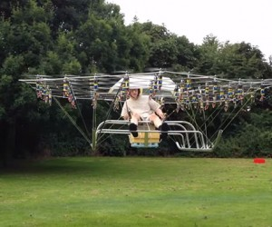 Personal Helicopter Created Using 54 Drones