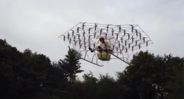 Personal Helicopter Created Using 54 Drones2