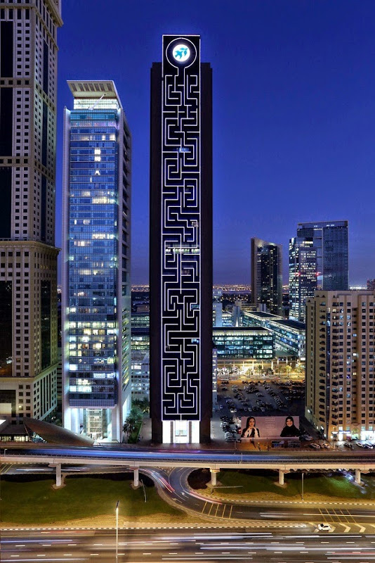 The Maze Tower Is World's Largest Vertical Maze in Dubai 4