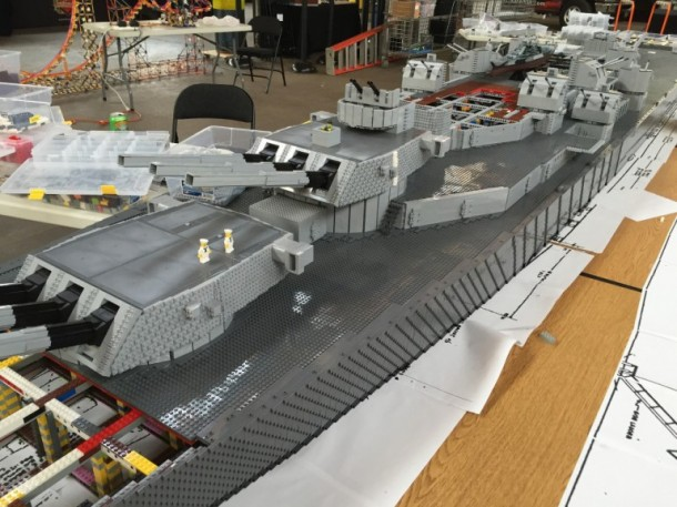 Guy creates the world 39 s largest warship model with 1 million lego blocks - Lego brick caravan a record built piece by piece ...