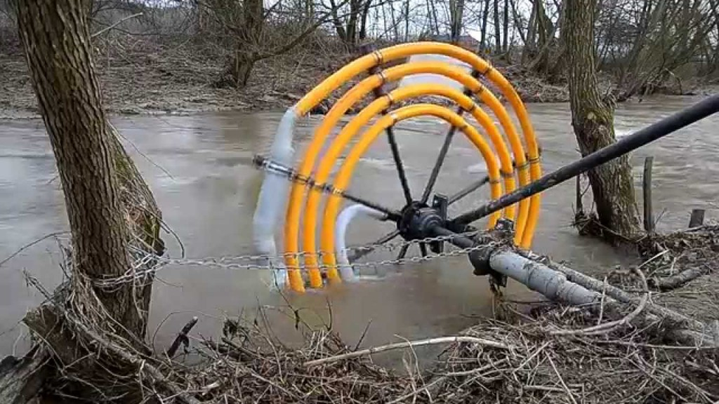 Water Wheel Pump That Requires No Electricity