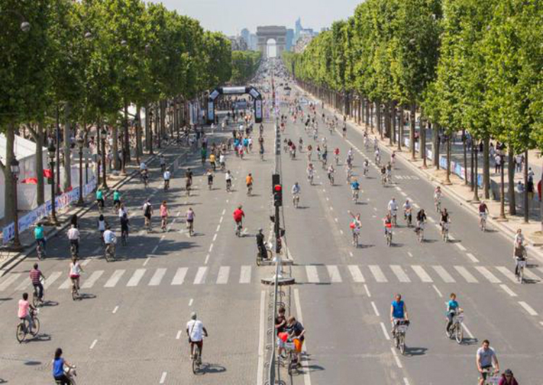 car free day in la belle paris
