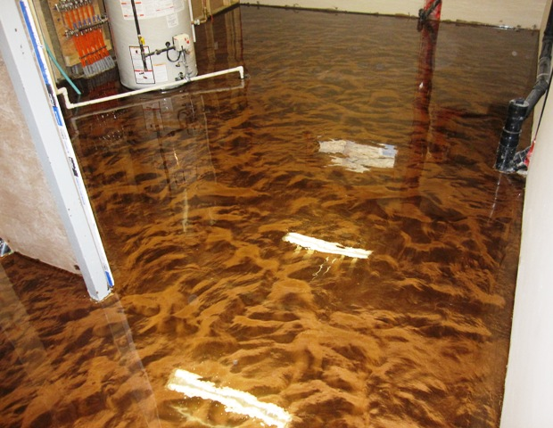 he poured epoxy all over his floor the end result was On epoxy paint for wood floors