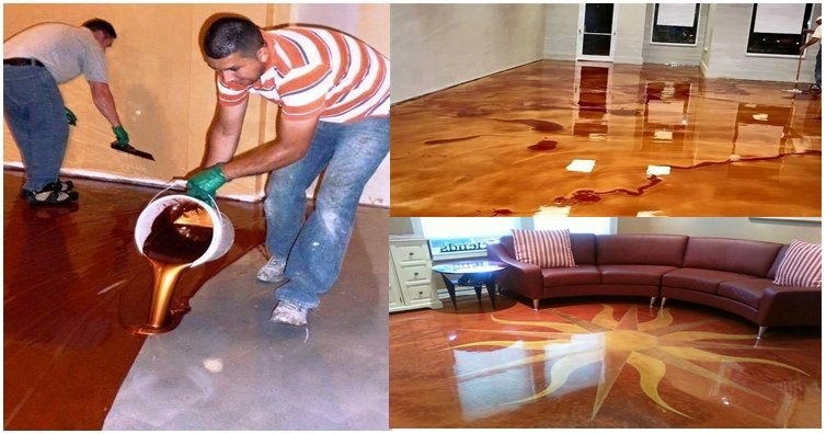 he poured epoxy all over his floor. the end result was simply stunning