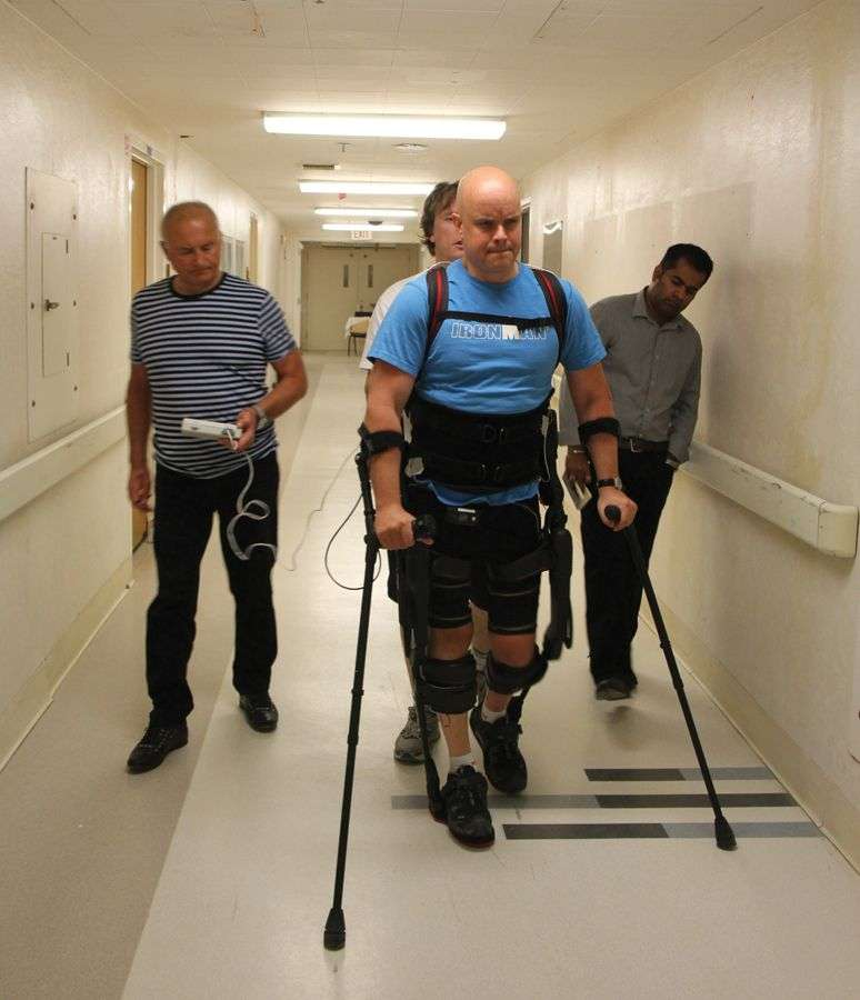 Completely Paralyzed Man Now Walks Like Normal With A Robotic Exoskeleton