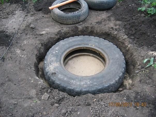 tire fountain DIY6