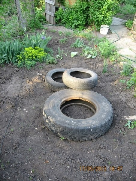 tire fountain DIY8