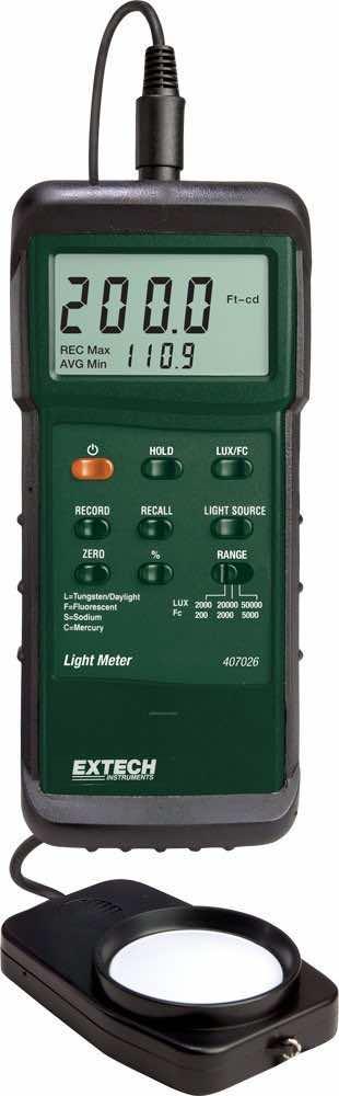 Extech 407026 Digital Light Meters