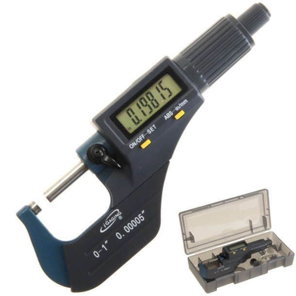 "iGaging 0-1"" Digital Electronic Micrometer w/Large Display Inch/Metric"