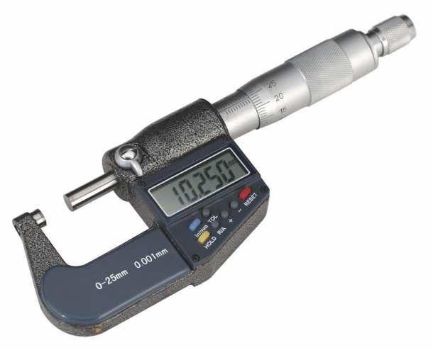 "HFS 0-1""(0.00005"") - 0-25mm(0.001mm) 7 MICROMETER"