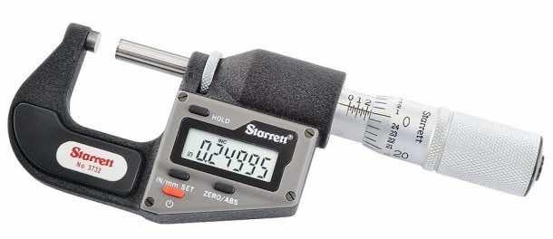 Starrett 3732XFL-1 Inch/Metric Electronic Micrometer