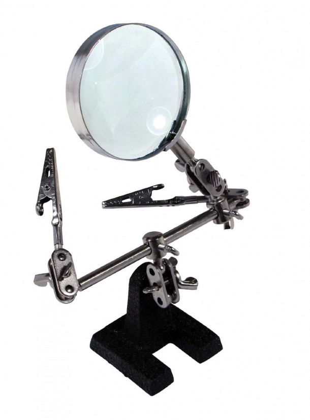 SE MZ101 Helping Hand with Magnifying Glass