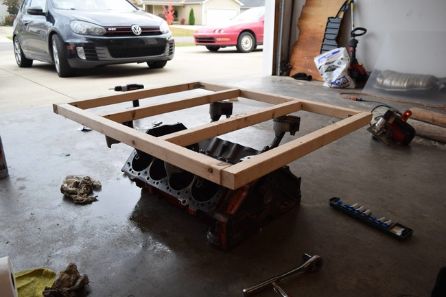 DIY coffee table from engine block4