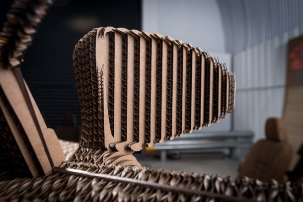 Lexus Manufactured A Driveable Cardboard IS Saloon 12