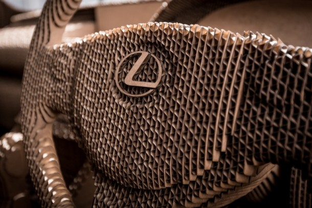 Lexus Manufactured A Driveable Cardboard IS Saloon 14