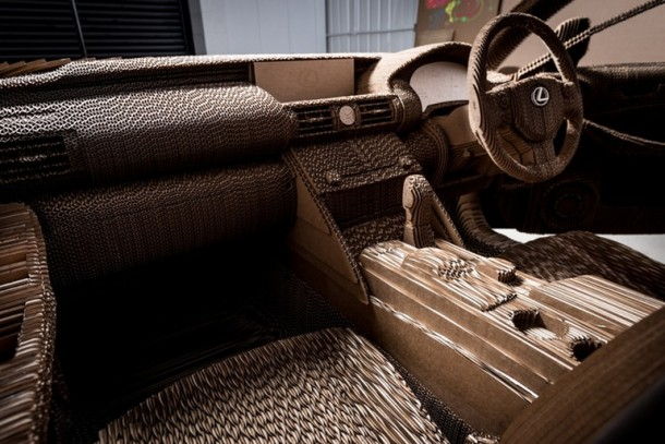 Lexus Manufactured A Driveable Cardboard IS Saloon 15