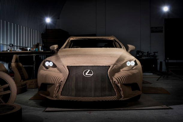 Lexus Manufactured A Driveable Cardboard IS Saloon 2