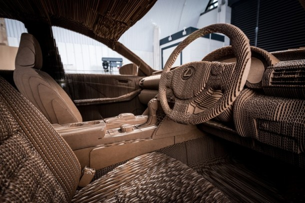 Lexus Manufactured A Driveable Cardboard IS Saloon 9