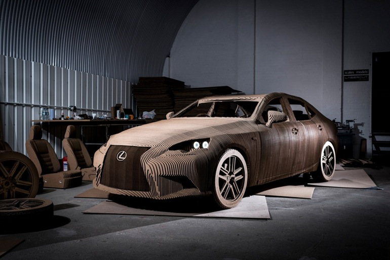 Lexus Manufactured A Driveable Cardboard IS Saloon