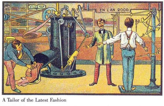 Year 1900 predictions about 2000-16