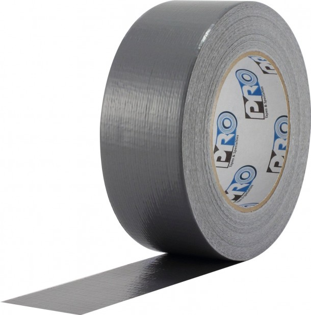 "ProTapes Pro Duct 100 PE-Coated Cloth Economy Duct Tape, 60 yds Length x 2"" Width, Silver"