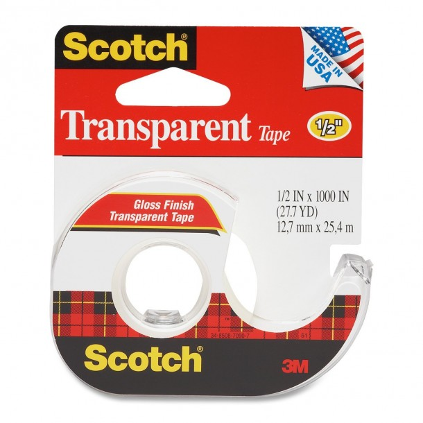 3M Transparent Tape with Dispenser