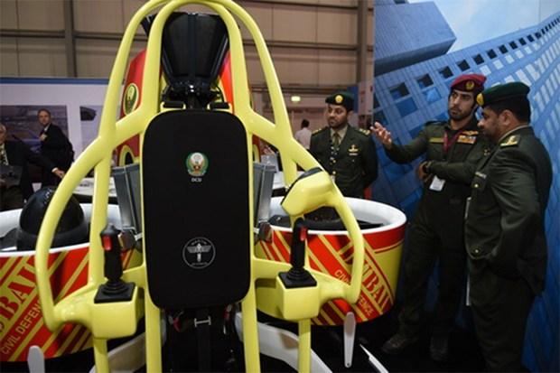 Martin jetpack for dubai fire fighting