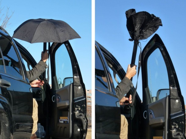 RainBender Umbrella Prevents After-Rain Floods 7