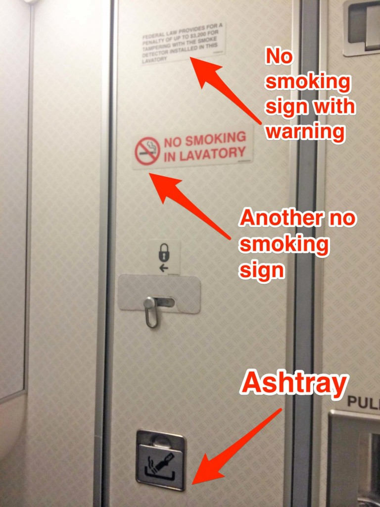 ashtray in airplane washroom3
