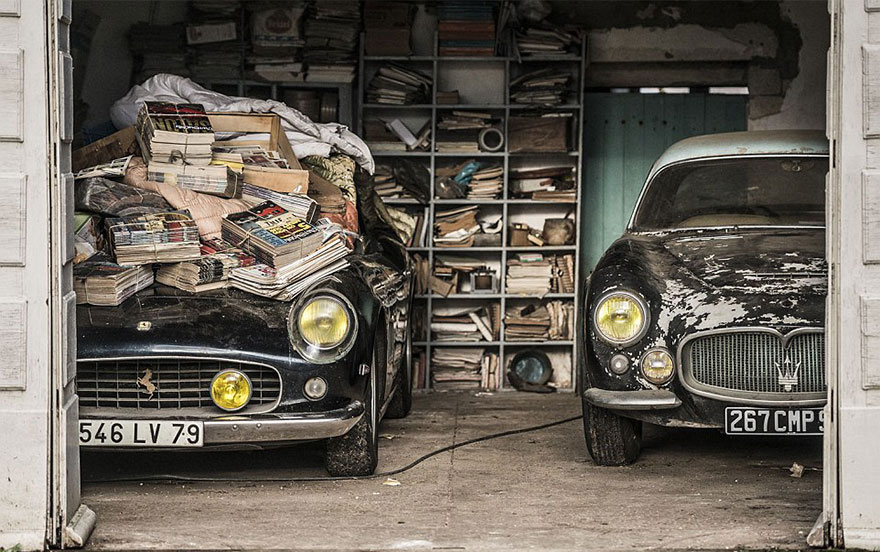 vintage cars found at french farmhouse5