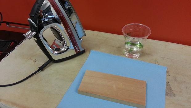 wood furniture dent removal DIY5