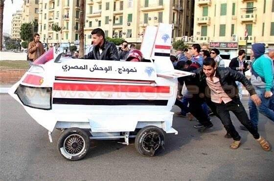 Egypt flying car fail
