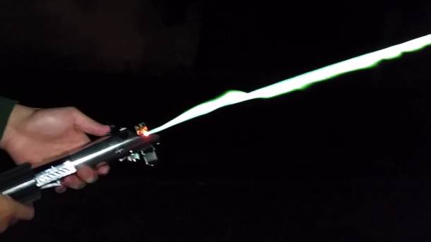 Real Burning Lightsaber Created By An Engineer 2