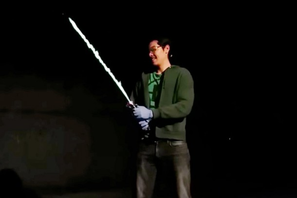 Real Burning Lightsaber Created By An Engineer 3