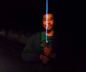 Real Burning Lightsaber Created By An Engineer 4