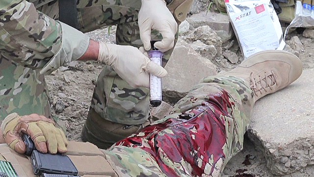 Seal Gunshot wound syringe
