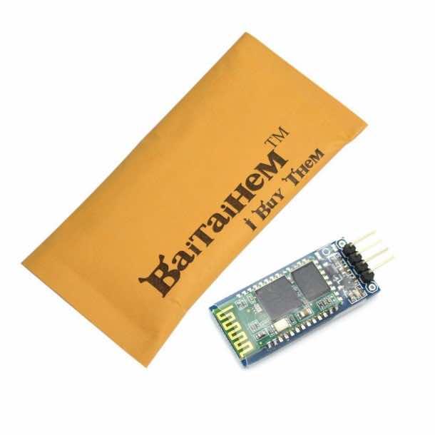 Baitaihem 4Pin Serial Arduino Wireless Bluetooth Receiver Module HC-06